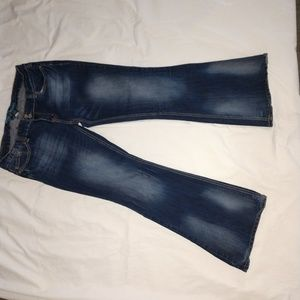 Ladies flare jeans.